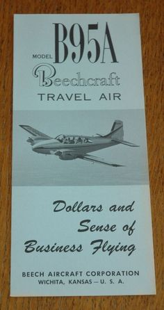 1964 beechcraft travel air aircraft n8537m 2 page vintage vintage rare 1961 beechcraft model b95a travel air brochure from 100 fandeluxe Images