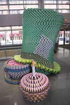 This is a canned food donation that is part of the Cincinnati Canstruction event!