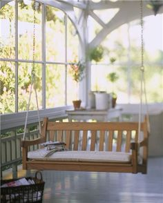 I want a front porch swing.  I have great memories of swinging on my Great Grandmother's front porch swing in Wisner, Louisiana.