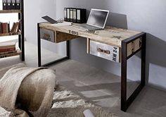 1000 ideas about bureau bois massif on pinterest bureau for Meuble bureau en fer