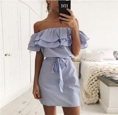 """Striped Ruffle Dress – amylynne ! ! ! USE CODE """"PINTEREST"""" FOR 10% OFF YOUR FIRST ORDER ! ! !"""