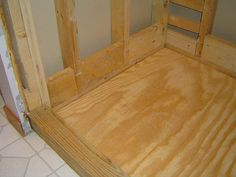 how to build a shower pan frame