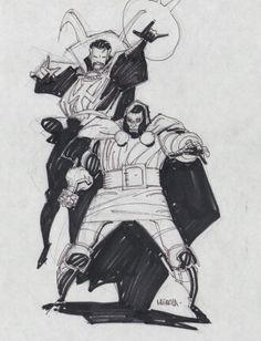 Doctor Doom and Doctor Strange  Comic Art