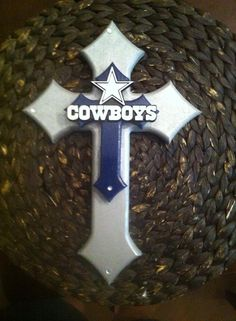 Dallas cowboys stacked wooden cross with or without by for Dallas cowboys arts and crafts