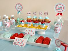Choo choo train dessert table