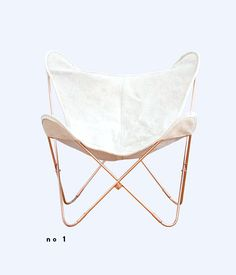 palermo copper series cowhide butterfly chair from the citizenry.