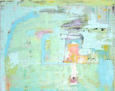 """ABSTRACT PAINTING BLUE green """"custom"""" large acrylic fine art painting 60 x 40 original painting modern abstract by Cheryl Wasilow"""