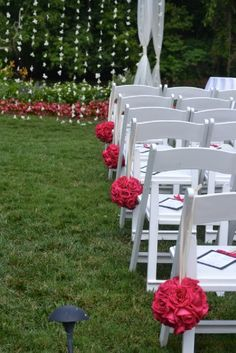 Good idea hanging petals even add some diamonds from the line and hang from a tree :) Wedding Chair Decorations, Wedding Themes, Wedding Events, Wedding Ideas, Wedding Of The Year, Wedding Season, Petals Florist, Event Planning, Wedding Planning