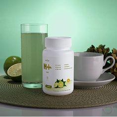 CHÁ H mais da HINODE - 0% açúcar / Chá verde / Café verde / Matcha / Gengibre / Guaraná em pó - Sabor de limão