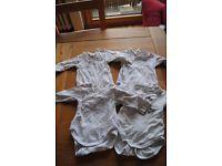 4 Wickelbodies Bodies Langarm Babyclub Zwillinge Frühchen