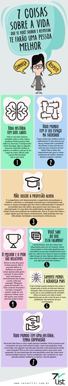 Veja 7 coisas que se você souber e entender te farão uma pessoa melhor. Coaching, Way Of Life, Better Life, Self Improvement, Self Help, Good To Know, Personal Development, Psychology, Life Hacks