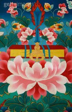 Manjushri's emblem; The flaming sword of wisdom & the Prajnaparimita (perfection of wisdom) in book form.
