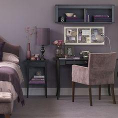Purple room decor items - home design inspiration Mauve Bedroom, Bedroom Decor, Bedroom Ideas, Bedroom Office, Silver Bedroom, Wall Decor, Murs Violets, Master Bedroom Design, Bedroom Designs