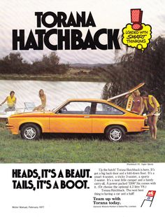 https://flic.kr/p/NhETaB | 1977 LX Holden Torana SS Hatchback Aussie Original Magazine Advertisement