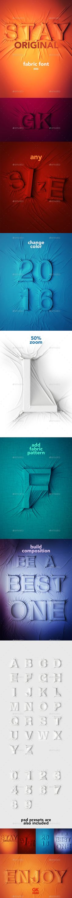 Fabric Font. Download here: https://graphicriver.net/item/fabric-font/17189521?ref=ksioks