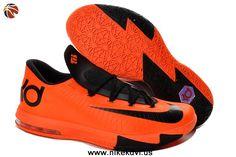 Authentic 599424-800 Total Orange Armory Slate-Team Orange-Armory Blue Nike KD VI