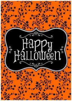 Retro Halloween, Halloween Tags, Fröhliches Halloween, Halloween Poster, Holidays Halloween, Halloween Themes, Halloween Printable, Halloween Decorations, Whimsical Halloween