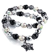 FOREVER selected by Paula Abdul Shimmer Bead Double Row Bracelet