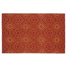 Check out this item at One Kings Lane! 8' Sq. Oaken Flat-Weave Rug, Brick Red
