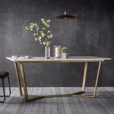 Smiths Cleo Rectangle Dining Table Marble - Dining Tables - Smiths Furniture Stores