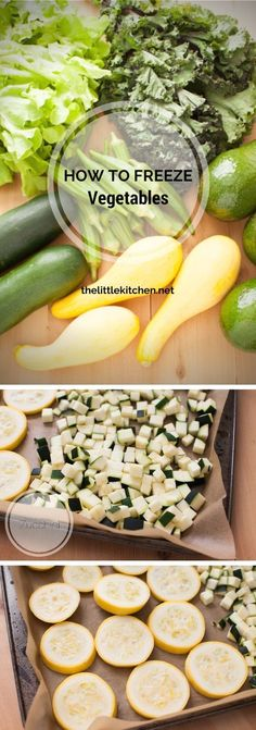 How to Freeze Vegetables from http://thelittlekitchen.net