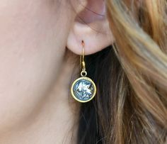 """""""The Strength of Athena"""" - unique earrings with antique coins representing the fearless goddess Athena, the archetype of a brave woman, boldly striding across her life."""