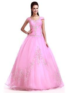 Quinceanera Ball Dress Cap Sleeves Sandra's Sweet Sixteen Dress