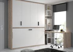 #Camas #abatibles espacios reducidos para mentes de amplios horizontes. En tan sólo una pared consigues tener un mobiliario de almacenamiento durante el día, y una o  dos camas durante la noche.