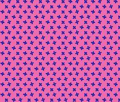 Blue Blooms fabric by eyespotdesigns on Spoonflower - custom fabric