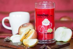 Caramel Apple Cider Soy Candle by Diamond Candles - A ring in every large candle!