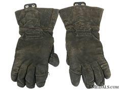 A Rare Pair of Luftwaffe Pilot Gloves - Luftwaffe - German Uniforms - Germany - Europe German Uniforms, Germany Europe, Luftwaffe, Pilot, Gloves, Pairs, Leather, Love, Air Force