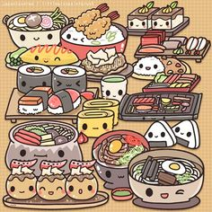 japanese food characters - Google Search
