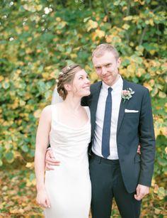 A David Fielden Dress for an Elegant Autumn Wedding Photographed on Film