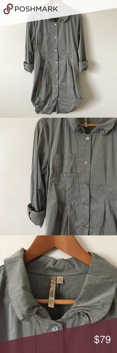 Comfy USA Grey Button Down Shirt Dress Gorgeous and like new condition 💕 Comfy U.S.A. Dresses