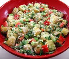Potato and Vegetable Salad with Mustard Ranch recipe