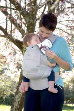 The perfect baby shower gift. Each carrier comes with an infant insert and a set of Chewies, teething pads. The Infant to Toddler Bundle - Cruiser - Pearl Grey is a great value for a great carrier! $149.00