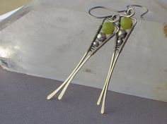 Sterling Silver Wire Wrapped Earrings with by mese9