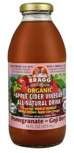 Bragg Organic Apple Cider Vinegar All Natural Drink Pomegranate Goji Berry
