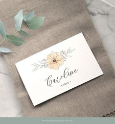 Create your own floral escort cards with this easy-to-use place card template. Ideal for fall-inspired weddings and thanksgiving table decor! #escortcards #wedding #placecards #diy Warm Colour Palette, Warm Colors, Diy Wedding Decorations, Table Decorations, Place Card Template, Change Background, Wedding Place Cards, Thanksgiving Table, Autumn Inspiration