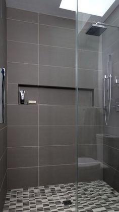 Small Bathroom Remodel Design Ideas On A Budget Bathroom Flooring, Bathroom Faucets, Small Bathroom, Master Bathrooms, Tile Bathrooms, Bathroom Gray, Bath Tiles, Bathroom Showers, Diy Shower