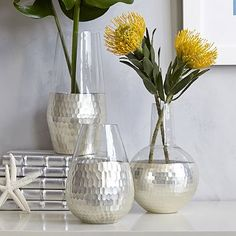 Metallic Honeycomb Vases #westelm