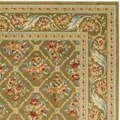 Lyndhurst Floral Trellis Green Rug (9' x 12')