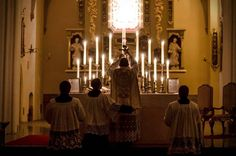 Rorate Mass in Gdansk. 15.12.2014