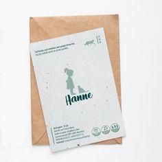 Eenvoudig kaartje langs één zijde gedrukt op groeipapier Birth, Books, Cards, Libros, Book, Map, Book Illustrations, Libri
