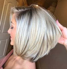 Silver Lob With Golden Blonde Highlights