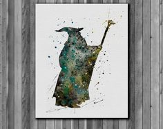 Gandalf Poster The Lord of the Rings by digitalaquamarine on Etsy