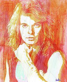 David Lee Roth, Rollers, Rock N Roll, Musicians, Portraits, Wall Art, American, Anime, Rock Roll