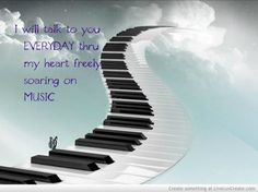 Music speaks beyond words, when you play it and listen to it with your heart. tomfaucherpiano.com #ILovePiano