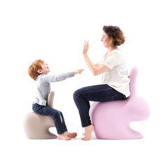 Rabbit stoel Qeeboo taupe | Musthaves verzendt gratis