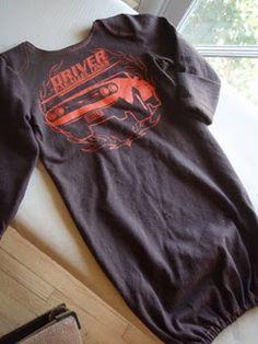 Windelfrei Nachthemd aus Papas Shirt nähen  <3